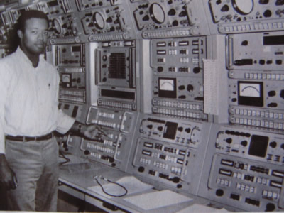 Clarence Somner at the USB control console